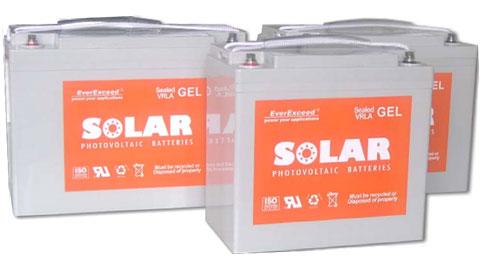 Гелевые аккумуляторы EverExceed Solar GEL Range