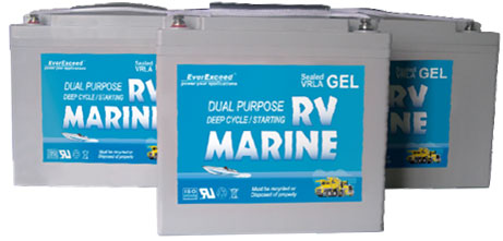 Гелевые аккумуляторы EverExceed Marine GEL Range (12 В/33-240 Ач)