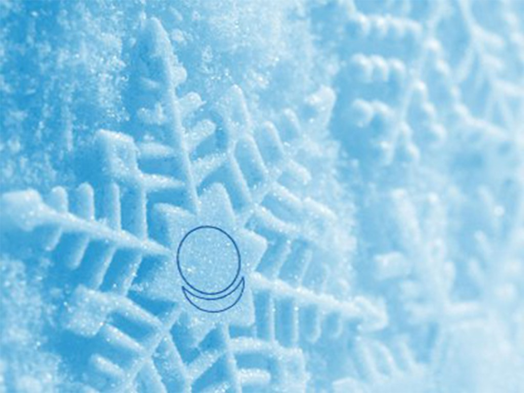 Проявление знака АллатРа в кристаллах воды