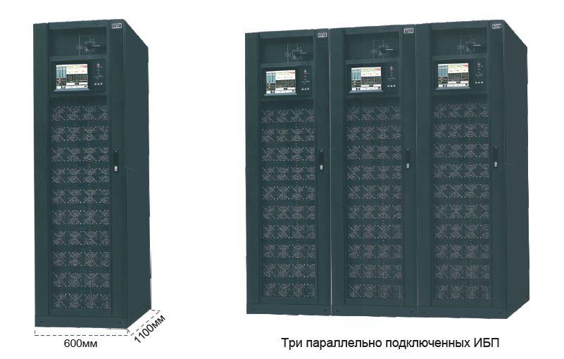 Три параллельно подключенных ИБП NetPRO